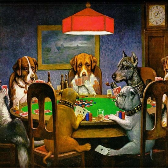 Card Playing Dogs