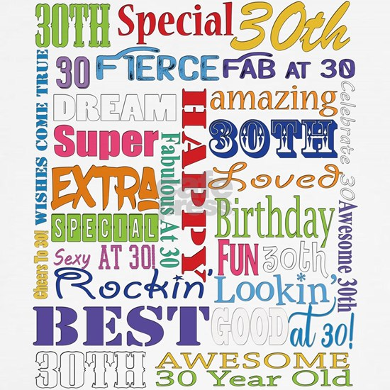 30th Birthday Typography