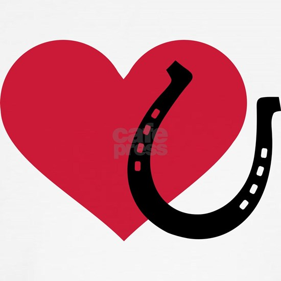 Horseshoe red heart