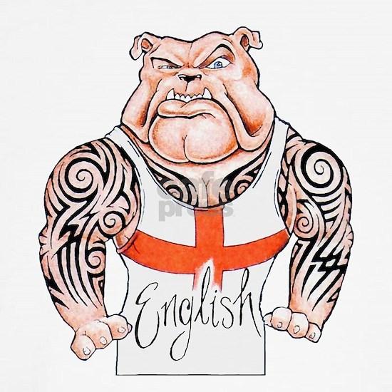 English Bulldog with Tribal Tattoos Throw Pillow by CypressHills ...