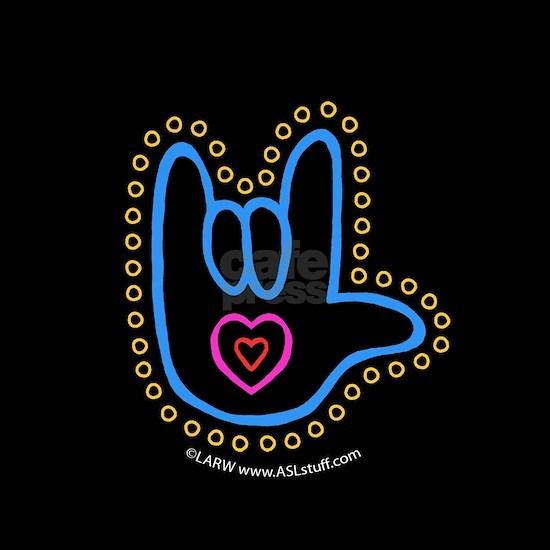 Blue Bold Love Hand Black