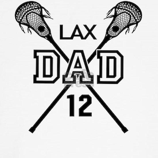 Lacrosse Dad B&W Number