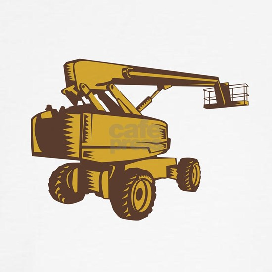 Cherry Picker Mobile Lift Platform Woodcut