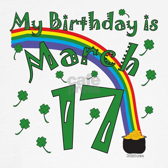 St. Patricks March 17th birthday copy