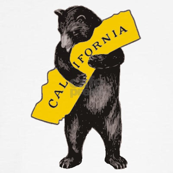 Vintage California Bear Hug Illustration