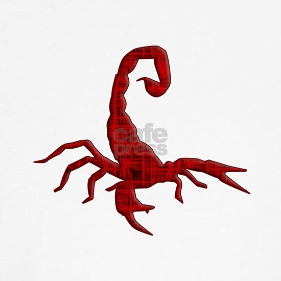 Scorpion silhouette red grunge