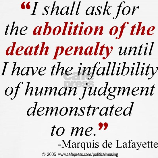 Abolish death penalty.