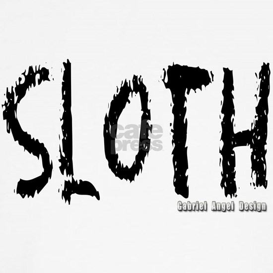 Sloth Logo branded white