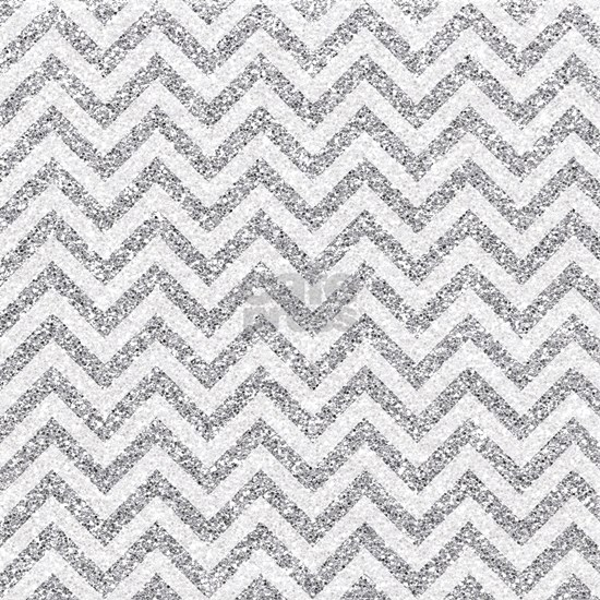Silver Glitter Effect Chevron Stripes