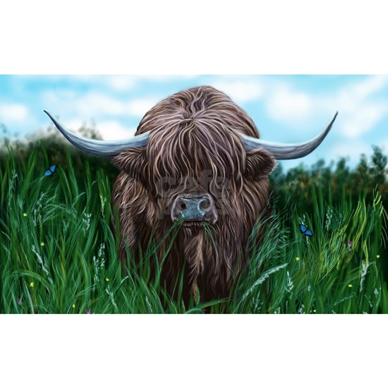 Scottish Highland Cow Painting