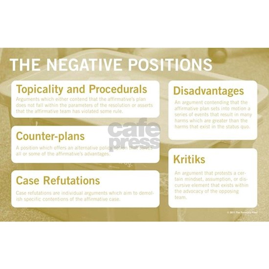 The Negative Positions