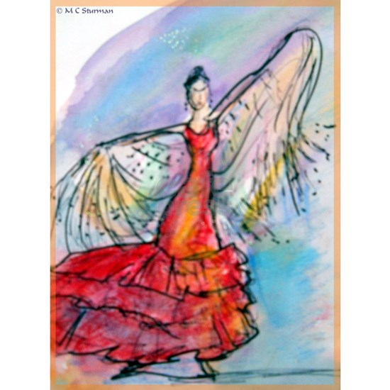 Flamenco dancer, art!