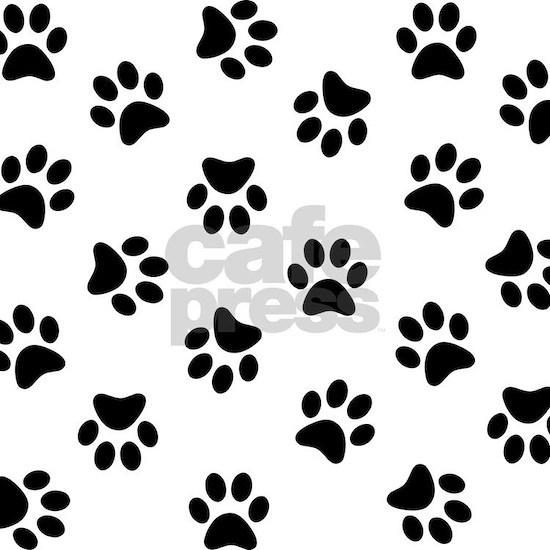 Black Pawprint pattern