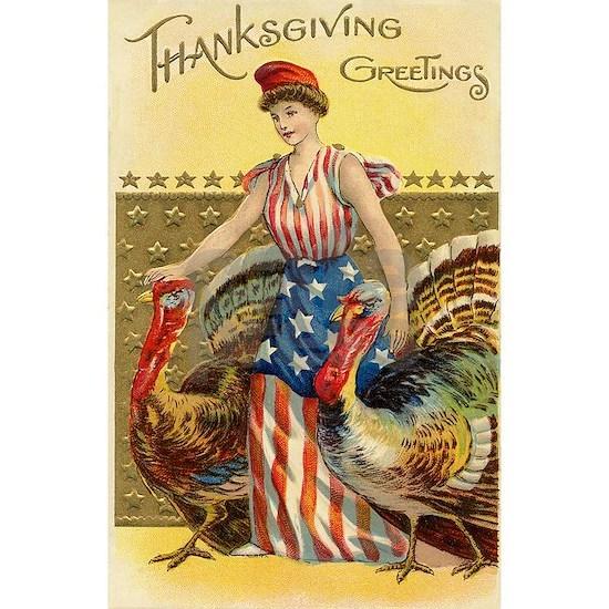 Vintage Thanksgiving American Greeting