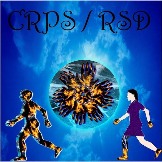 CRPS RSD Man & Woman with World A Blaze Starburst
