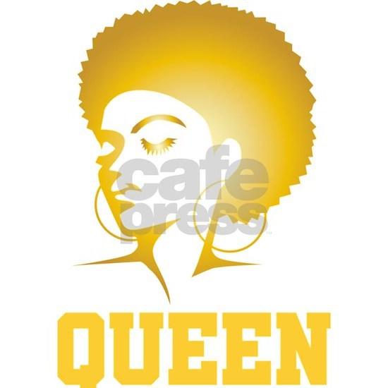 African Design Queen Afro Locs Birthday Gift