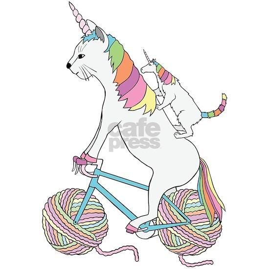 Cat Unicorn Riding Unicorn Cat Who's Riding A Bike
