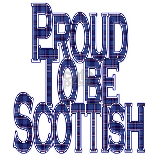 Proud to be Scottish Tartan Text