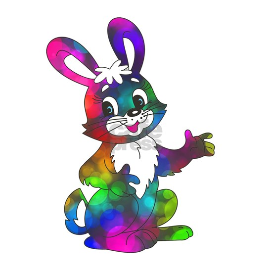 psychedelic easter bunny