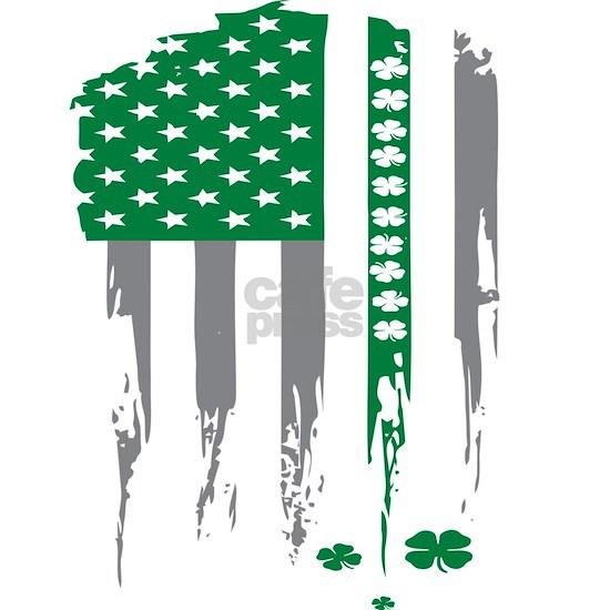 Irish American Shamrock Flag Gift Design Idea