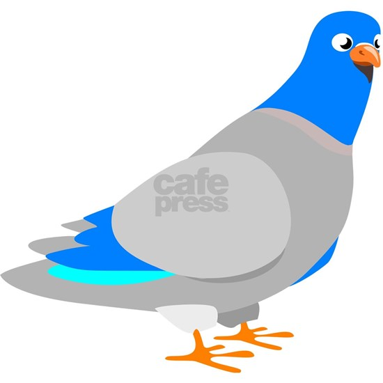 Animated Blue & Grey Pigeon