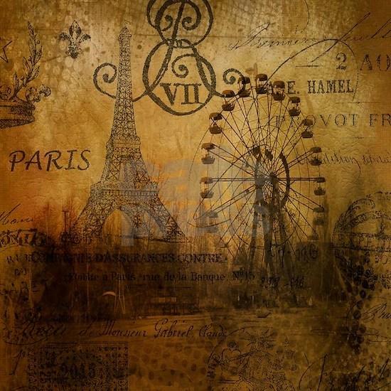 elegant paris Eiffel tower landscape art