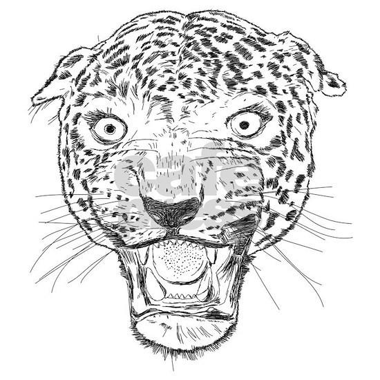 Aggressive Leopard Face