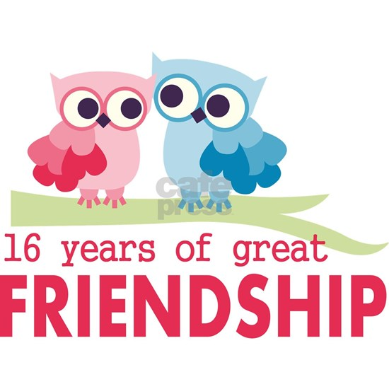 16th Wedding Anniversary Owls
