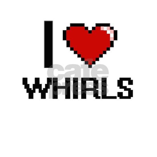 I love Whirls digital design