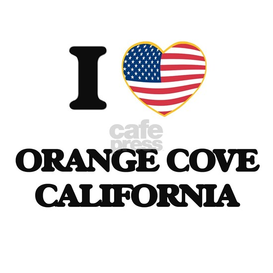 I love Orange Cove California USA Design