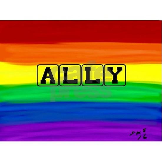 Ally gay rainbow art