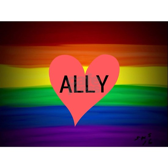 ALLY gay rainbow art