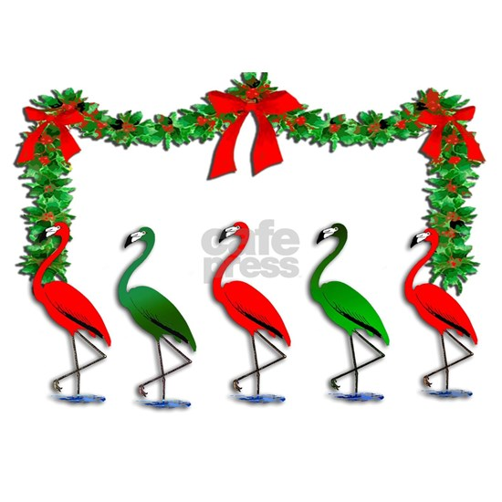 Dancing Xmas Flamingos