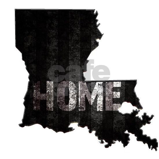 Louisiana Home Black and White