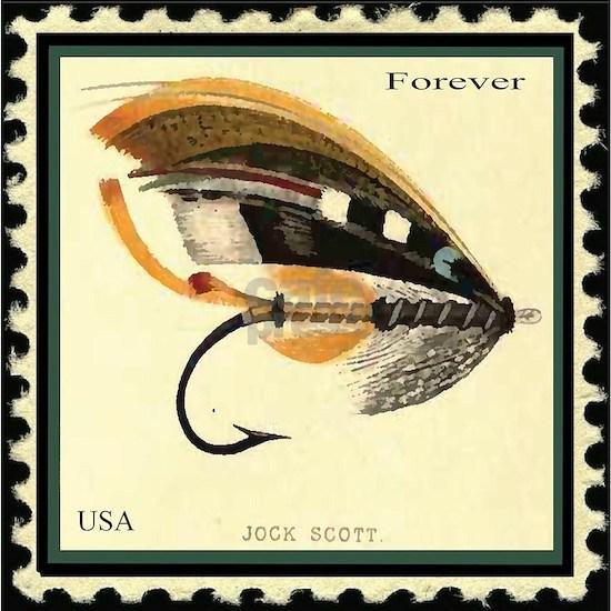 Jock Scott-The Salmon Fly Stamp