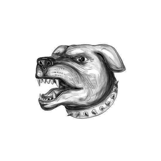 Rottweiler Dog Head Growling Tattoo