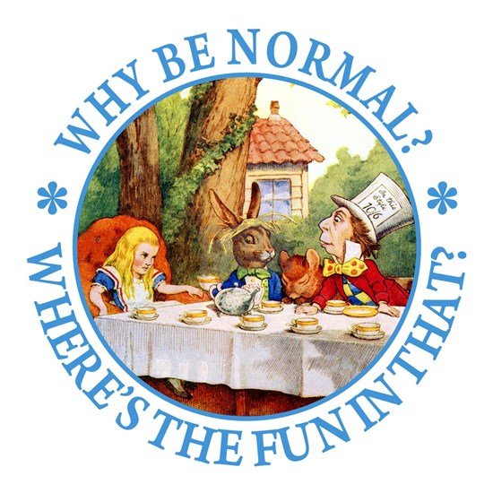 ALICE MAD HATTER WHY BE NORMAL_BLUE