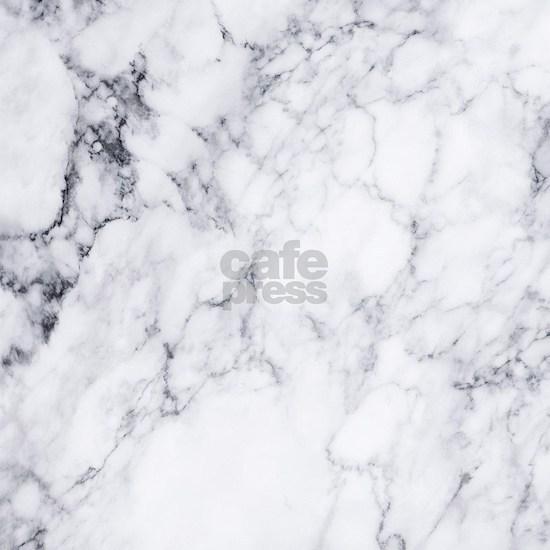 White & Gray Faux Marble