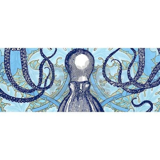 Antique Octopus on William Morris Background