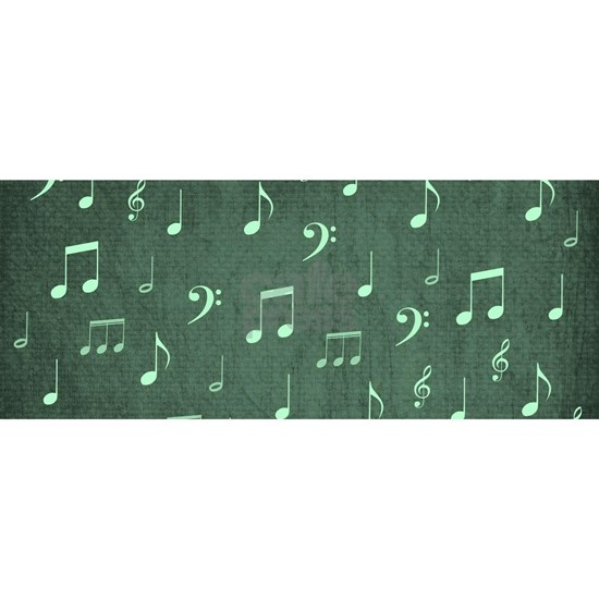 music notes and sign into a modern trendy uniquely
