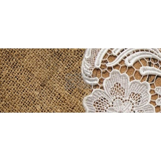 french country burlap lace