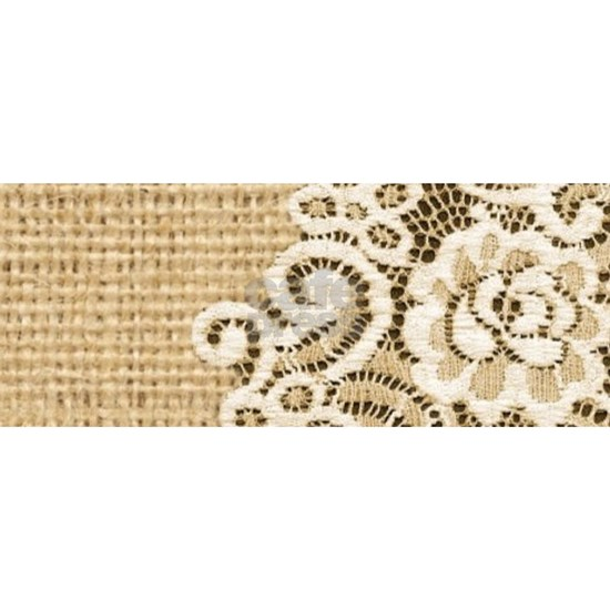 vintage rustic burlap and lace