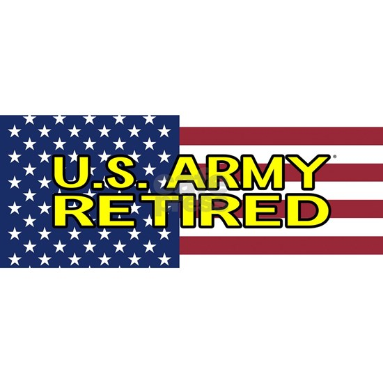 U.S. Army: Retired (American Flag)