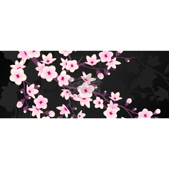 Cherry Blossom Pink Black