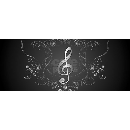 Elegant  clef with floral elements