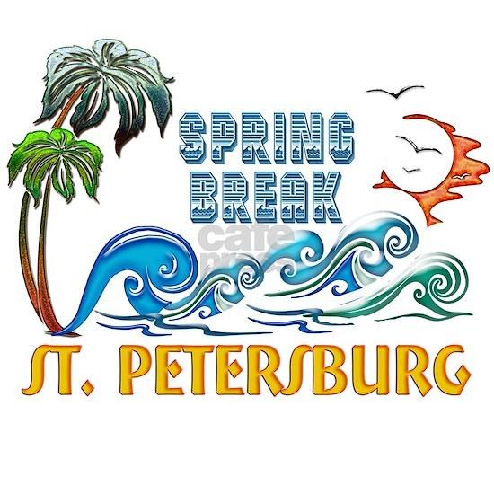 3D Palms Waves Sunset Spring Break ST PETERSBURG