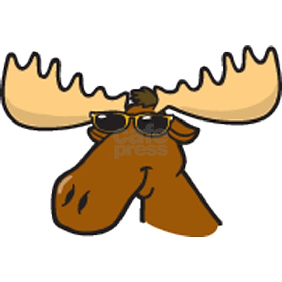 moose with sunglasses