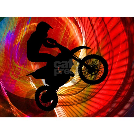 Motocross Light Streaks in a Windtunnel