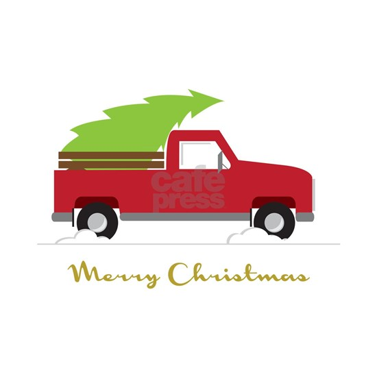 25. Red Pick up Truck Christmas Tree