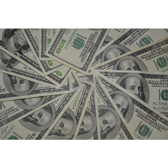 swirl hundred dollar bills